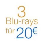 Rabattaktion 3 Blu-rays für 20 EUR bei Amazon - 2