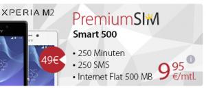 Sony Xperia M2 8 GB mit Inklusivminuten Internet-Flat KW29-2014